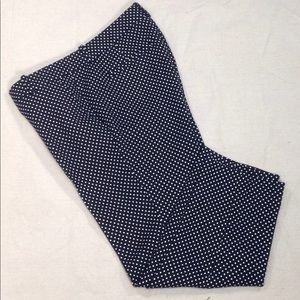 NWT J Crew Embroidered Cafe Capri Polka Dot Pants